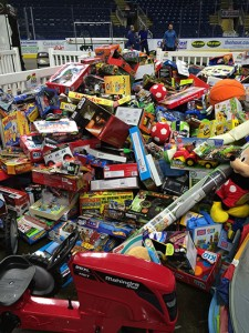 Toys collected for WPLR's Annual Holiday Toy Drive
